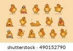 set vector stock illustrations... | Shutterstock .eps vector #490152790