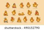 set vector stock illustrations... | Shutterstock .eps vector #490152790