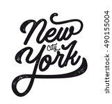 new york city. ny logo isolated.... | Shutterstock .eps vector #490155004