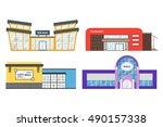 flat supermarket. shopping mall ... | Shutterstock .eps vector #490157338