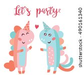 lets's party concept. a vector... | Shutterstock .eps vector #490161340