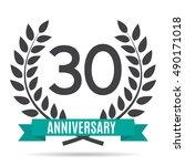 template logo 30 years... | Shutterstock .eps vector #490171018