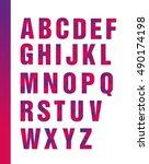 bright geometric alphabet ... | Shutterstock .eps vector #490174198