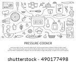pressure cookers and... | Shutterstock .eps vector #490177498