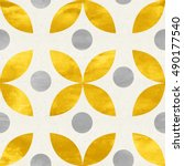 simple shapes seamless pattern... | Shutterstock . vector #490177540
