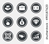 Money  Cash And Finance Icons....