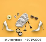 fashion woman clothes... | Shutterstock . vector #490193008