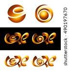 vector logo design. 3d hot core ...   Shutterstock .eps vector #490197670