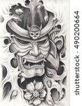 Samurai Warrior Tattoo Design...