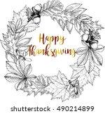 vector round border greeting... | Shutterstock .eps vector #490214899