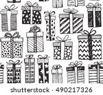vector seamless pattern with... | Shutterstock .eps vector #490217326