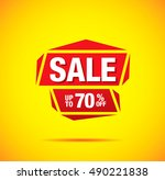 sale label design | Shutterstock .eps vector #490221838