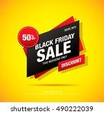 black friday sale banner | Shutterstock .eps vector #490222039