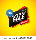 black friday sale banner | Shutterstock .eps vector #490222048