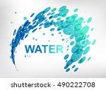 sign water spray | Shutterstock .eps vector #490222708