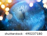 art 2017 happy new years eve... | Shutterstock . vector #490237180