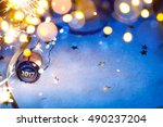 art christmas and 2017 new year ... | Shutterstock . vector #490237204