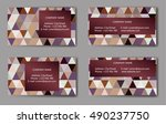 business card with geometric... | Shutterstock .eps vector #490237750