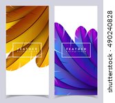 Colorful Feather Banners Set....