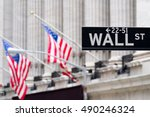 Wall Street Sign With The New...