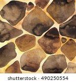 Watercolor Giraffe Skin Texture