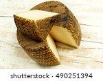 aged sheep milk manchego cheese   Shutterstock . vector #490251394