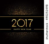 happy new year 2017 with... | Shutterstock .eps vector #490252498
