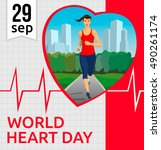 world heart day vector... | Shutterstock .eps vector #490261174