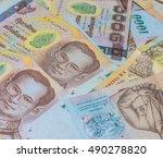 money thai baht    Shutterstock . vector #490278820