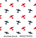 kids seamless pattern with... | Shutterstock .eps vector #490279453