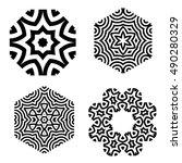 set of vector elements of the... | Shutterstock .eps vector #490280329