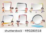 design text box frame... | Shutterstock .eps vector #490280518