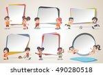 design text box frame... | Shutterstock .eps vector #490280518