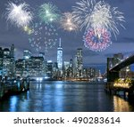 new year's eve in new york city ... | Shutterstock . vector #490283614