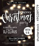 vector christmas party... | Shutterstock .eps vector #490289779