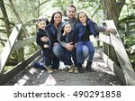 a family of five member in...   Shutterstock . vector #490291858