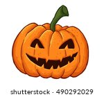 halloween cartoon pumpkin | Shutterstock .eps vector #490292029