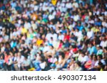 abstract blur people on... | Shutterstock . vector #490307134