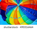 canopy of a multicolor... | Shutterstock . vector #490316464