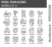 set of thin icons  business... | Shutterstock .eps vector #490322368