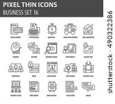 set of thin icons  business... | Shutterstock .eps vector #490322386