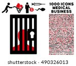 prison icon with 1000 medical... | Shutterstock .eps vector #490326013
