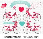 valentine bicycles | Shutterstock .eps vector #490328404