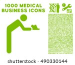 servant icon with 1000 medical... | Shutterstock .eps vector #490330144
