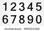 vector hand drawn numbers...   Shutterstock .eps vector #490331560