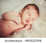 incredible and sweet newborn... | Shutterstock . vector #490332598