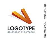 letter v logo icon design...   Shutterstock .eps vector #490334050