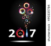 new year 2017 in black... | Shutterstock .eps vector #490335784