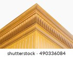 crafted wood furniture isolated ... | Shutterstock . vector #490336084