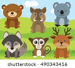 forest animals | Shutterstock .eps vector #490343416